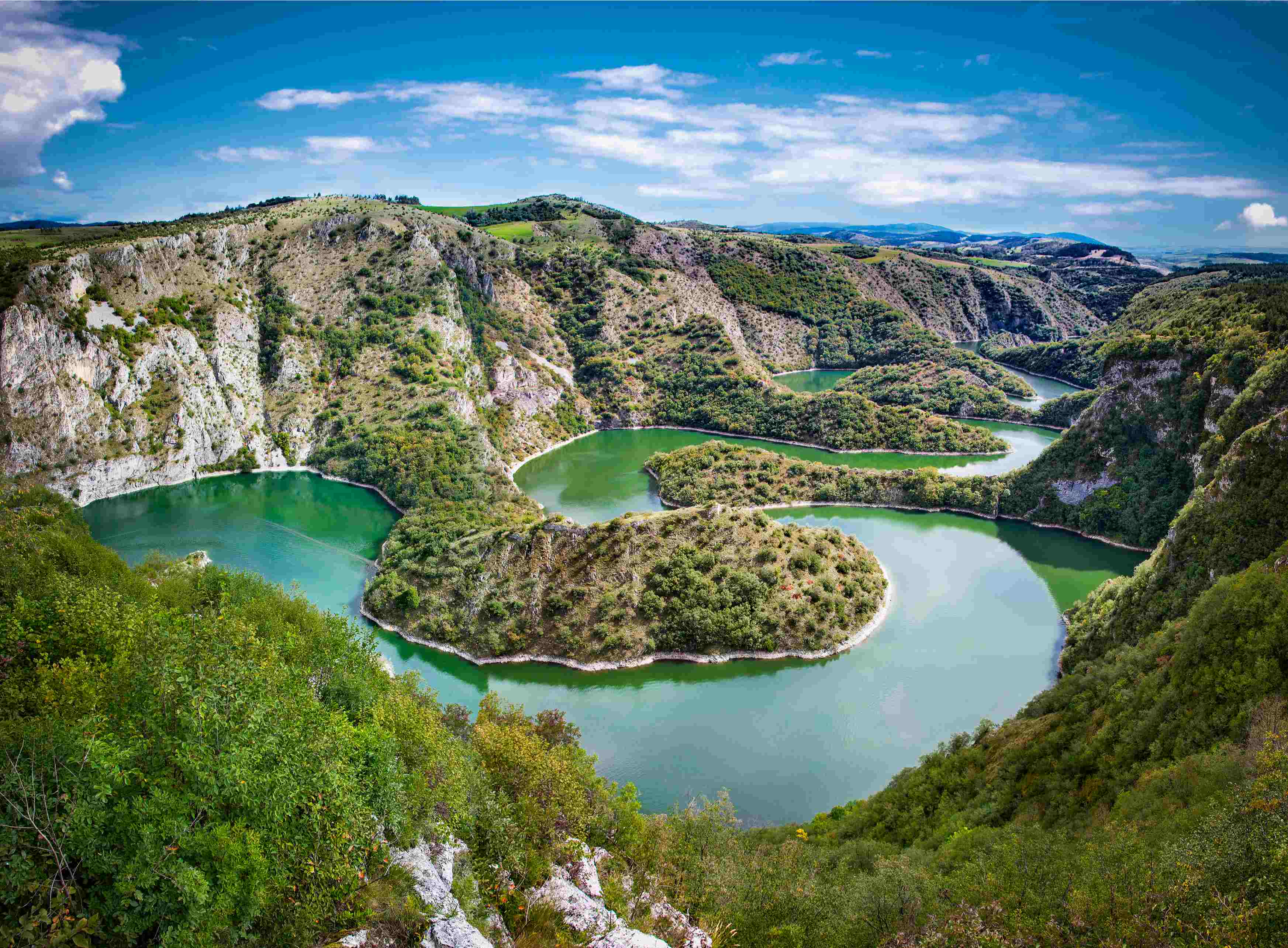 View of Uvac Canyon travelling to Serbia