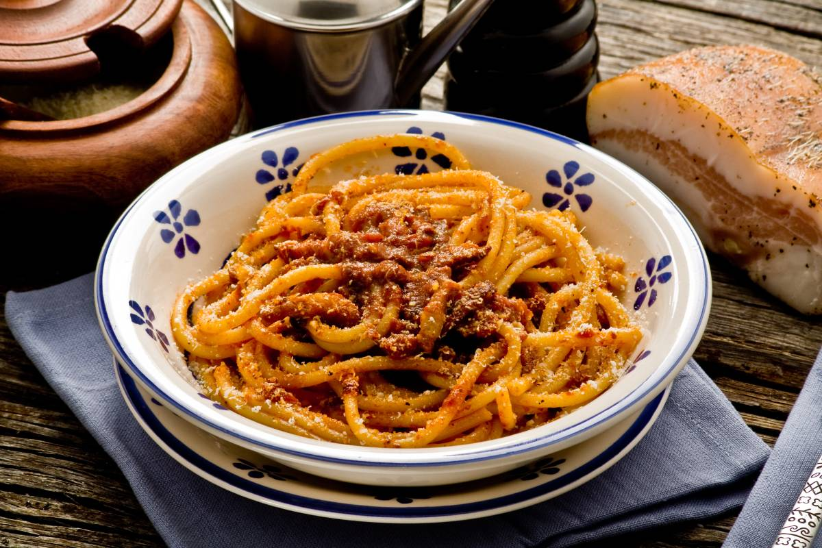 Simple yet delicious pasta all'amatriciana, world pasta day