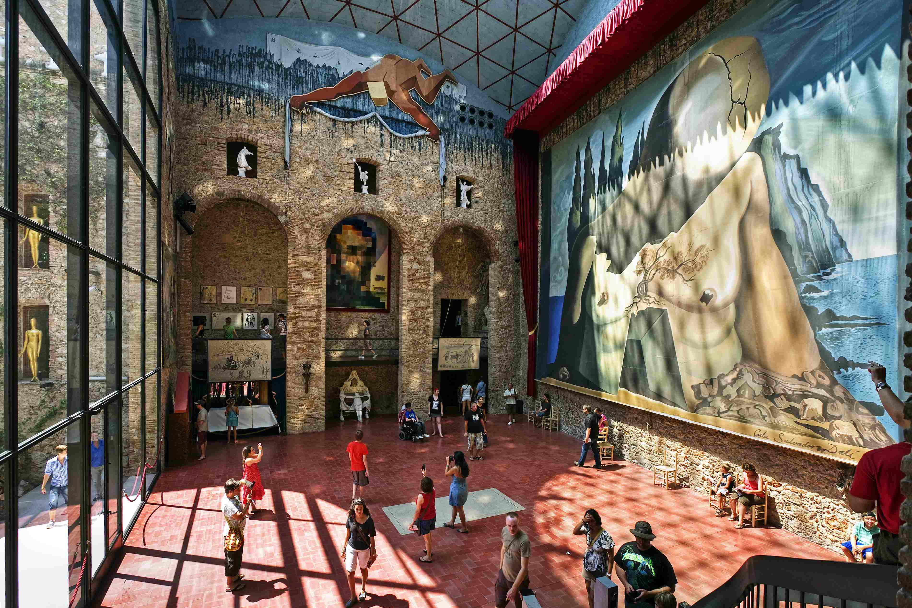 Interior of Dalí Theatre-Museum in Figueres, Spain.