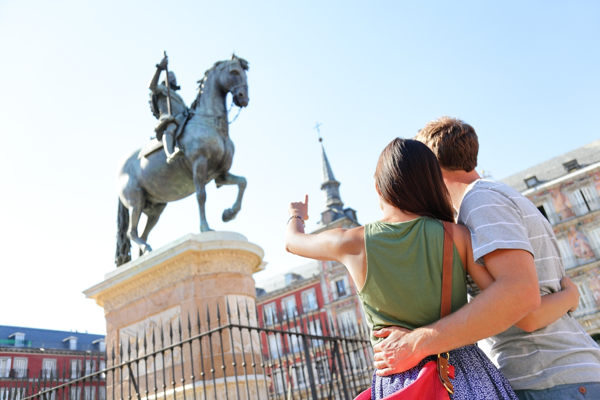 Couple sightseeing in Spain