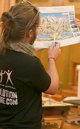 Expat Explore tour leader with map