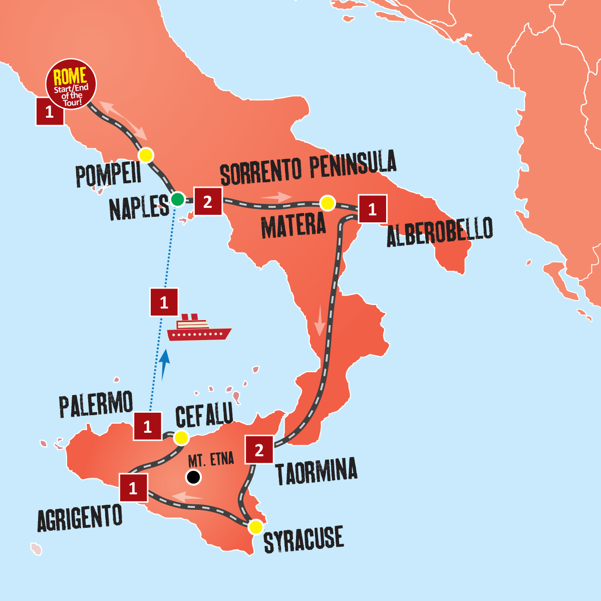 Map Of South Italy.Southern Italy Vacations Italy Holiday Packages Expat Explore Travel